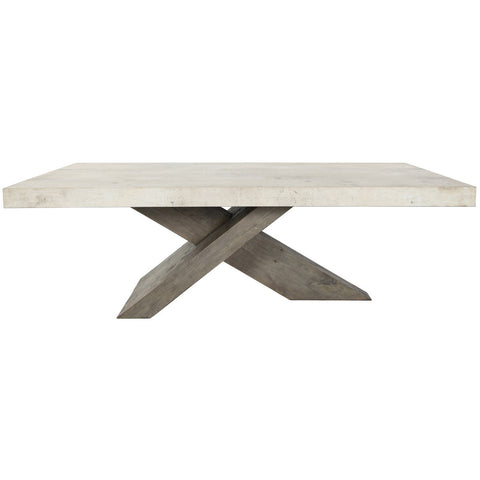 Lightweight Concrete and reclaimed Pine Dining Table