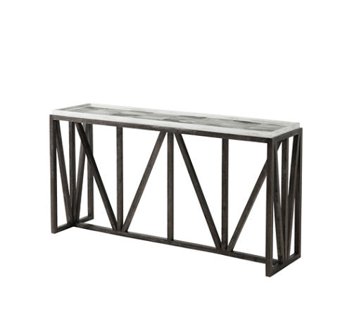 Faux Horn Modern Console Table on Hardwood Base - Hamptons Furniture, Gifts, Modern & Traditional