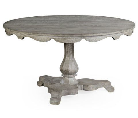 Greyed Oak Pedestal Tables - Hamptons Furniture, Gifts, Modern & Traditional