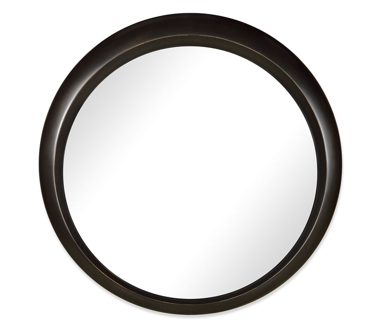 Round Bronze Finish Mirror - Hamptons Furniture, Gifts, Modern & Traditional