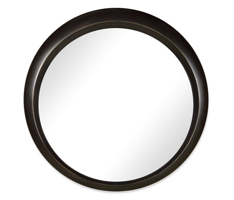 Round Bronze Finish Mirror