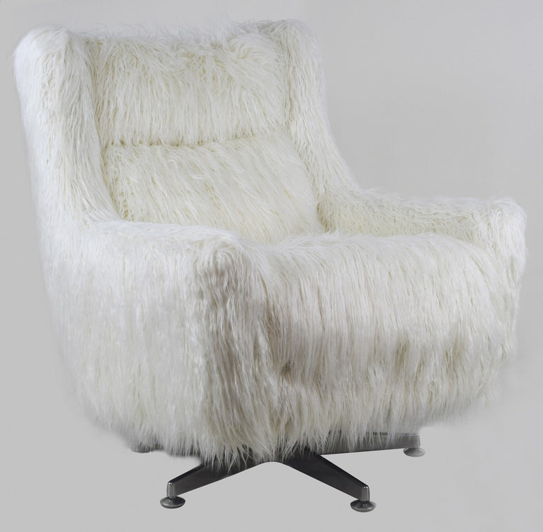 Faux Mongolian Fur Chair