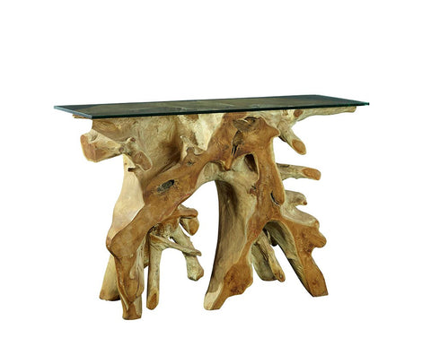 Natural Form Teak Console Tables