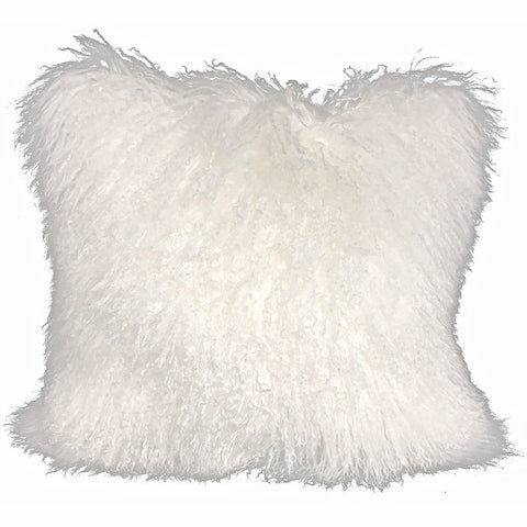 Mongolian sheepskin pillows in variety of colors