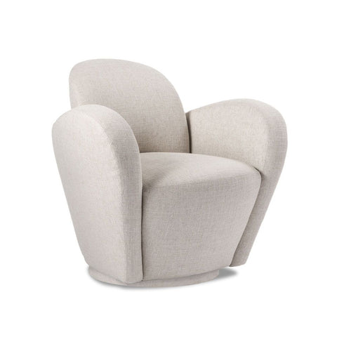 Futuristic Upholstered Swivel Armchair - quick ship