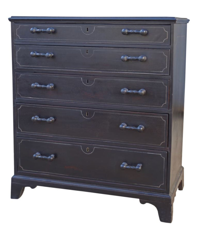 Ebonised English Dresser - Hamptons Furniture, Gifts, Modern & Traditional