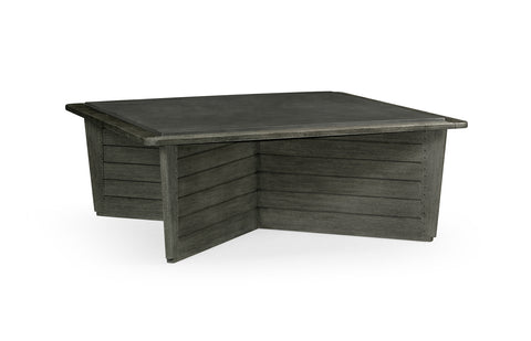 Outdoor Coffee Table with Stone Top