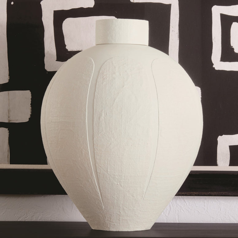Ceramic Lidded Vase - Hamptons Furniture, Gifts, Modern & Traditional