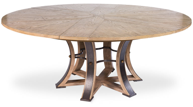 Round Expanding Dining Table with self storing leaves