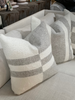 Wool Pillows in Grey and White