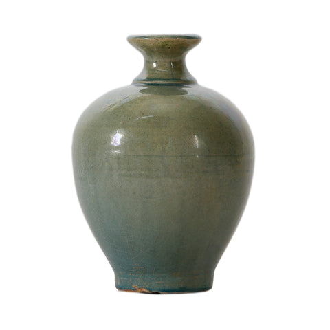 Blue Glazed Earthenware Vases
