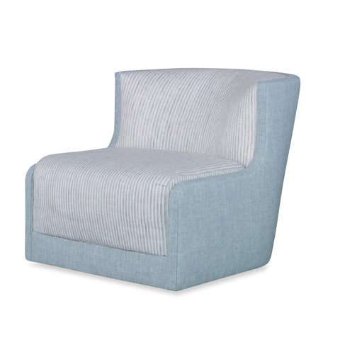 Large Swivel Chair with Stripe Crypton Fabric