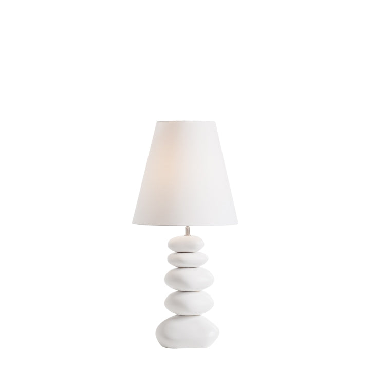 White Resin Pebble Lamps - Hamptons Furniture, Gifts, Modern & Traditional