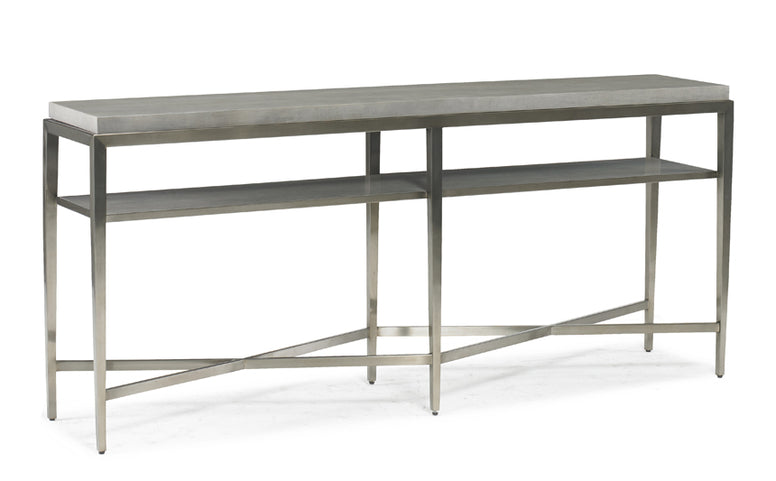Narrow metal and wood console table - Hamptons Furniture, Gifts, Modern & Traditional