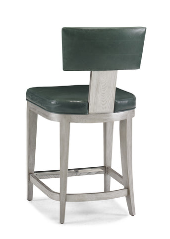 Counter Stool with Leather Seat and Back