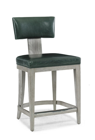Counter Stool with Leather Seat and Back - Hamptons Furniture, Gifts, Modern & Traditional