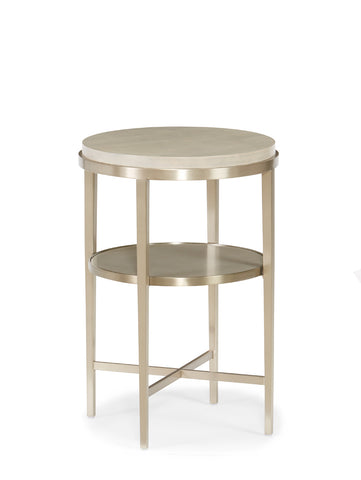 Modern Side Table in Silver and Grey