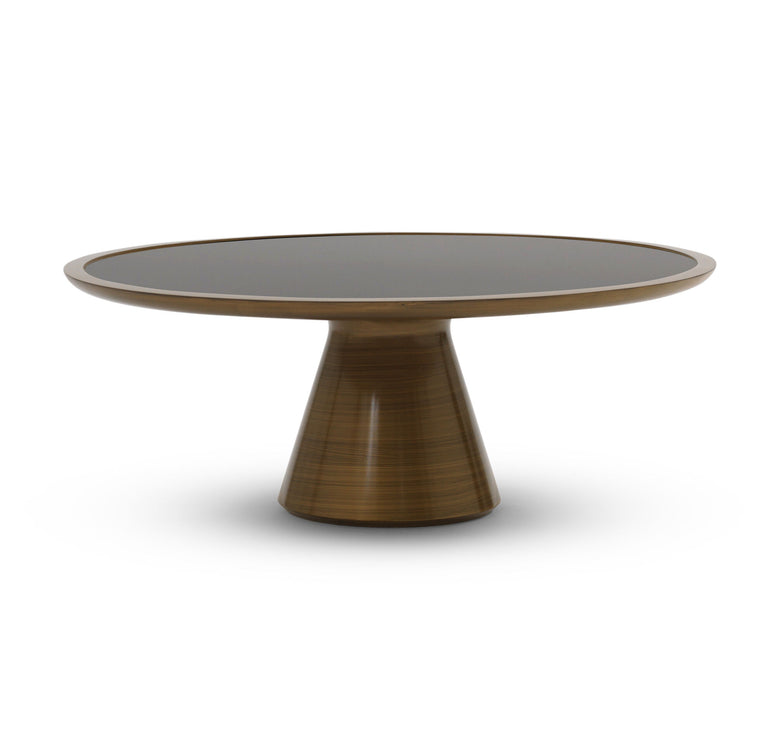 Round Metallic Cocktail Table