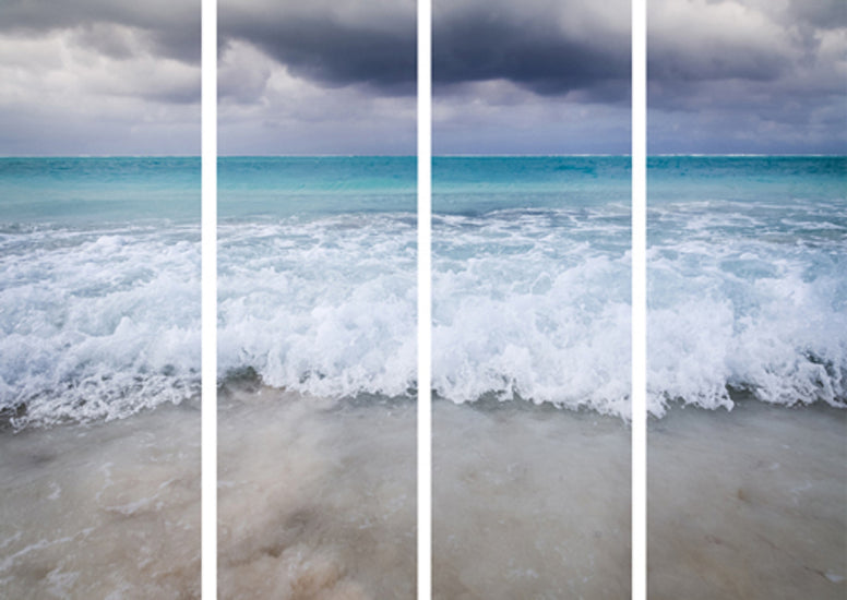 Beach Quadriptych on Plexi