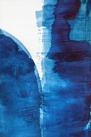 Blue Abstract Prints on Plexiglass