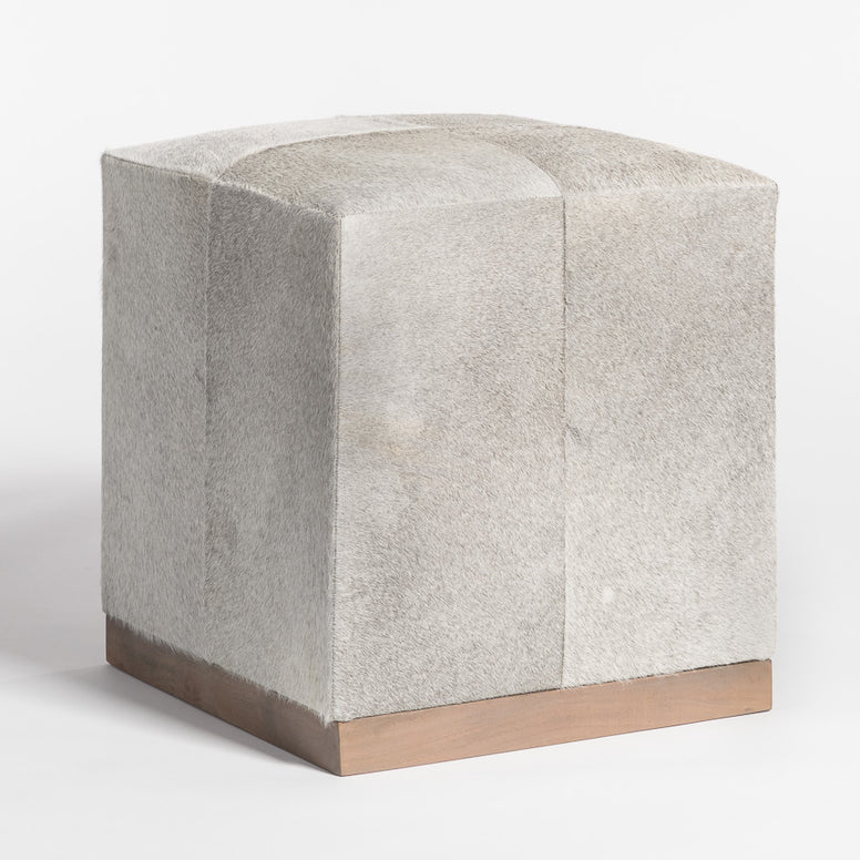 Square Hide Ottoman or stool - Hamptons Furniture, Gifts, Modern & Traditional