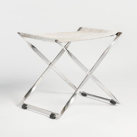 X BASE HIDE STOOL - Hamptons Furniture, Gifts, Modern & Traditional