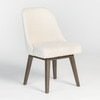 Modern Dining Chair in Ivory Boucle Fabric