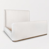 UPHOLSTERED BED IN WHITE SHEARLING - Hamptons Furniture, Gifts, Modern & Traditional