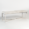 beautiful cow hide bench, on brushed chrome  x base - Hamptons Furniture, Gifts, Modern & Traditional