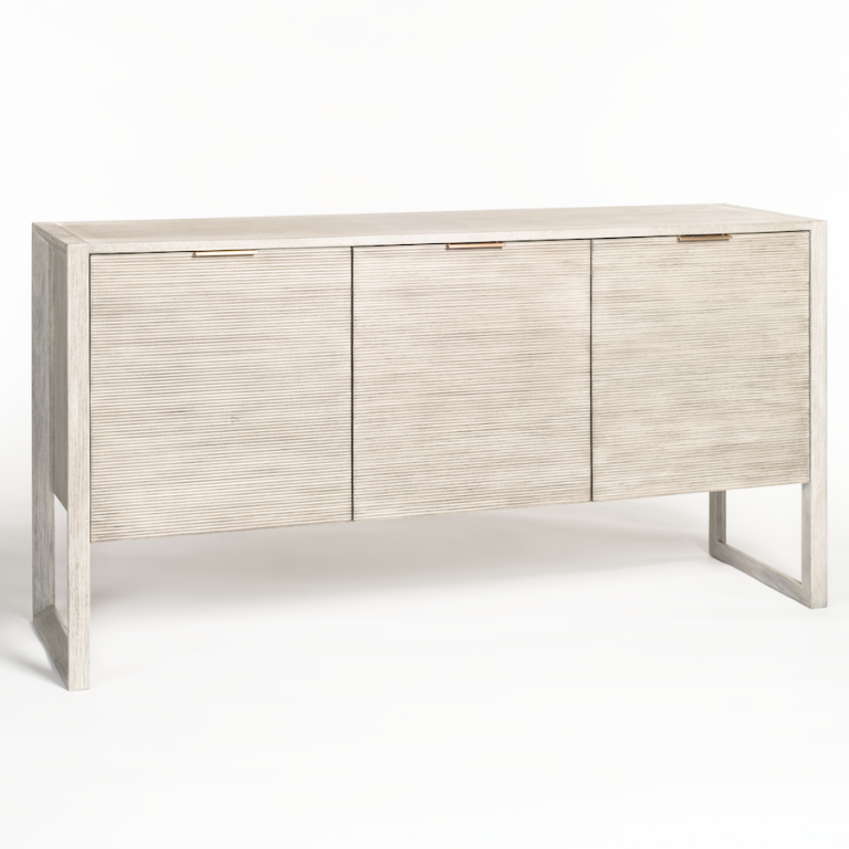 Wire Brush Finish Grey Sideboard