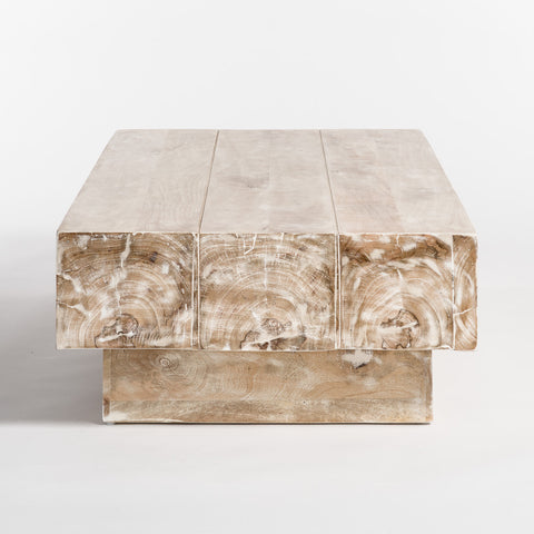 Hardwood Coffee Table in Bleached Finish
