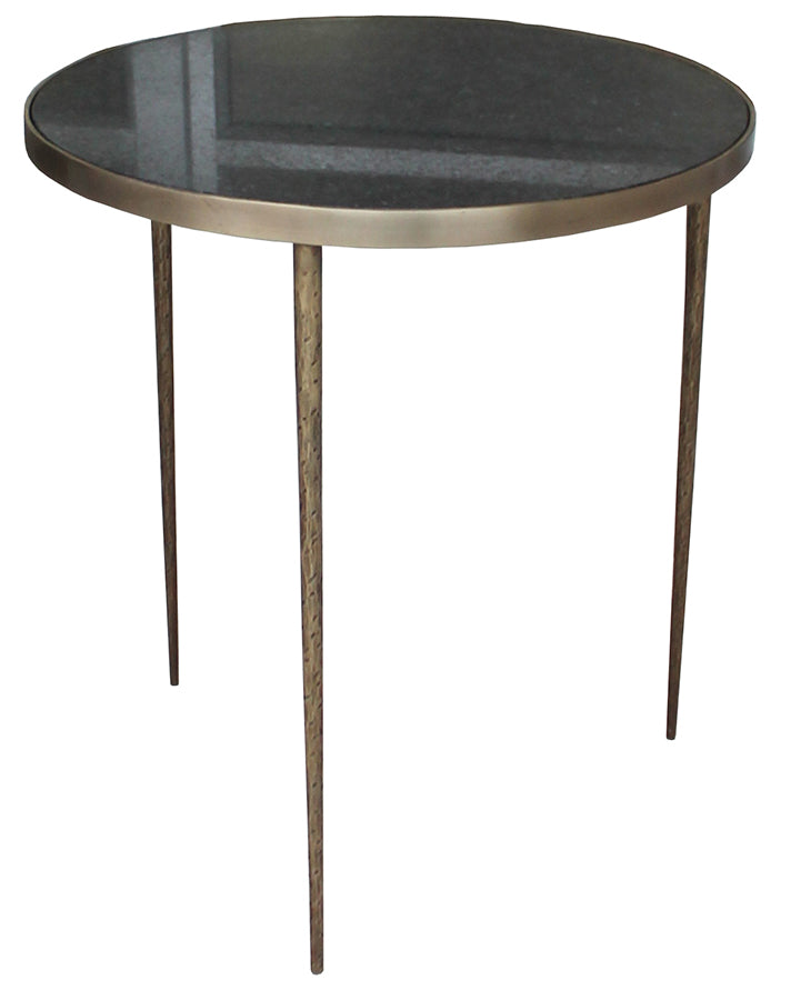 Brass and Black Marble Side table