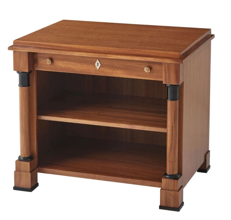 Open-Shelf Night Stand with 1 Recessed Drawer