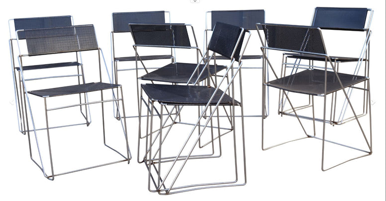 Set of 10 Dutch Dining Chairs