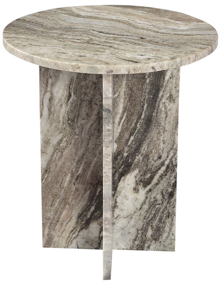 Multi Tone Marble Side Table