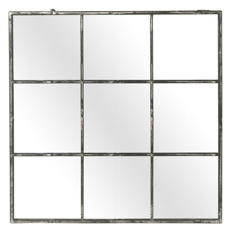 Iron Mirror with nine Panes