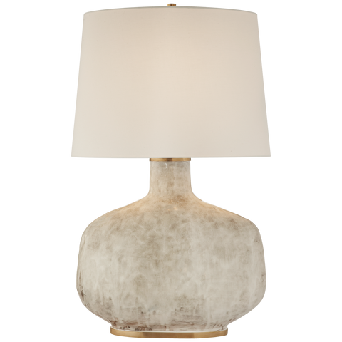 Beton Large Table Lamp with Linen Shade