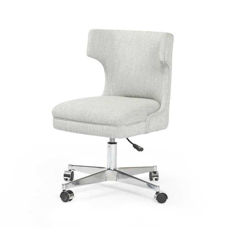 Adjustable Desk Chair in Grey Upholstery