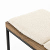 Oak Bench with Iron Base and 3 Seat Pillows - Hamptons Furniture, Gifts, Modern & Traditional