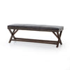 "59"" Leather Tailored Bench"