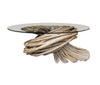 Handmade Rattan Knot Cocktail Table with Glass Top - Hamptons Furniture, Gifts, Modern & Traditional