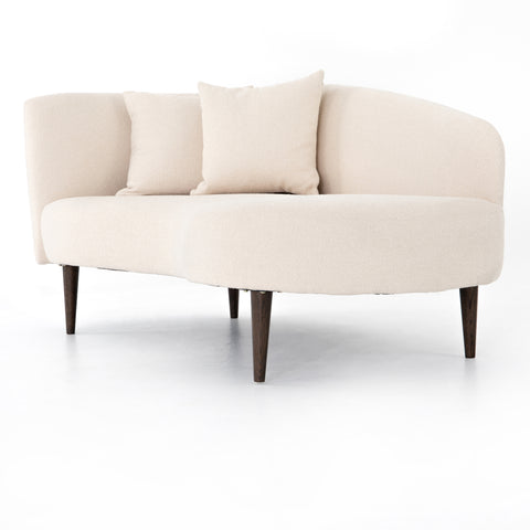 One Arm Chaise in Natural Upholstery