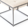 Linen Top Side Table