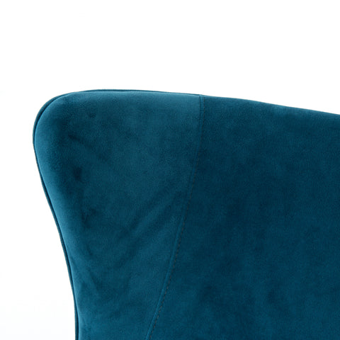 Armchair in Blue Velvet