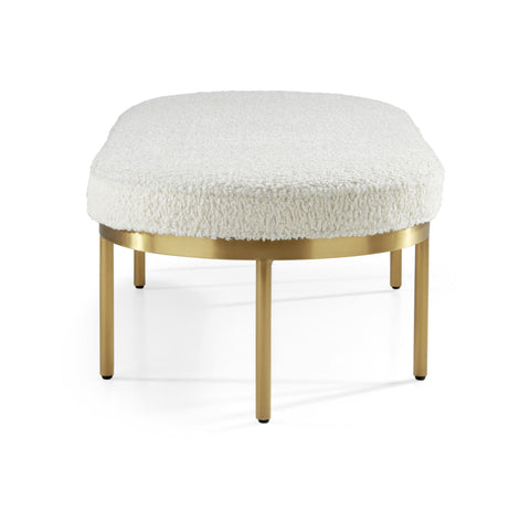 Cocktail ottoman in Sherpa