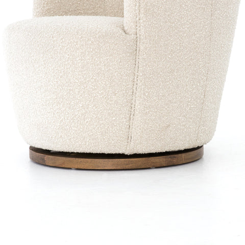 Swivel Chair in natural toned boucle