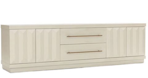 Low Media Console with 3D Door Fronts