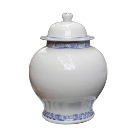 Blue and white temple jar - Hamptons Furniture, Gifts, Modern & Traditional