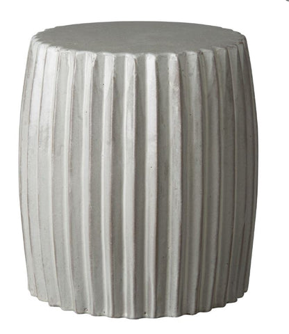 Pleated Garden Stool - Hamptons Furniture, Gifts, Modern & Traditional