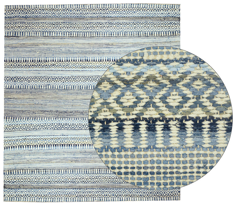 Blue and white rug - Hamptons Furniture, Gifts, Modern & Traditional
